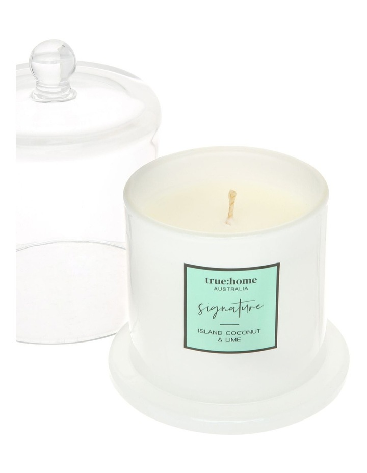 Signature Candle With Cloche Island Coconut & Lime image 3