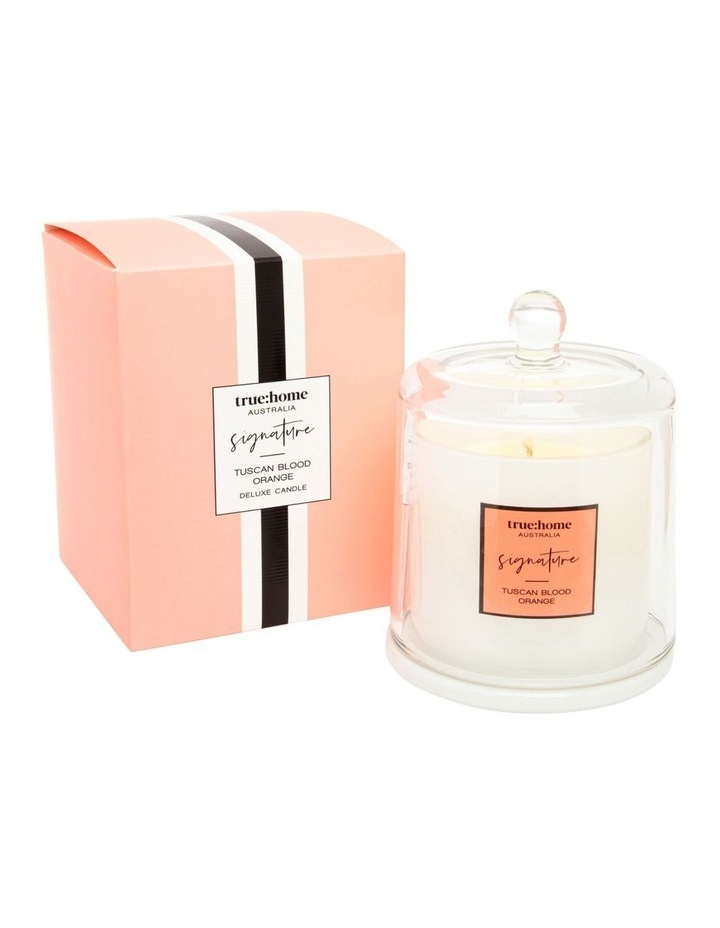 Signature Candle With Cloche Tuscan Blood Orange image 1