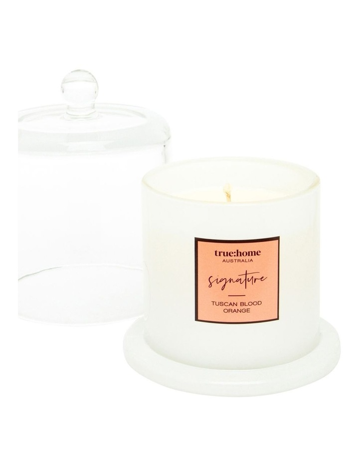 Signature Candle With Cloche Tuscan Blood Orange image 2