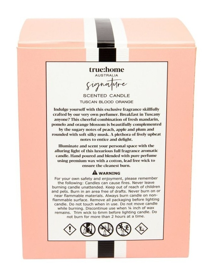 Signature Candle With Cloche Tuscan Blood Orange image 3