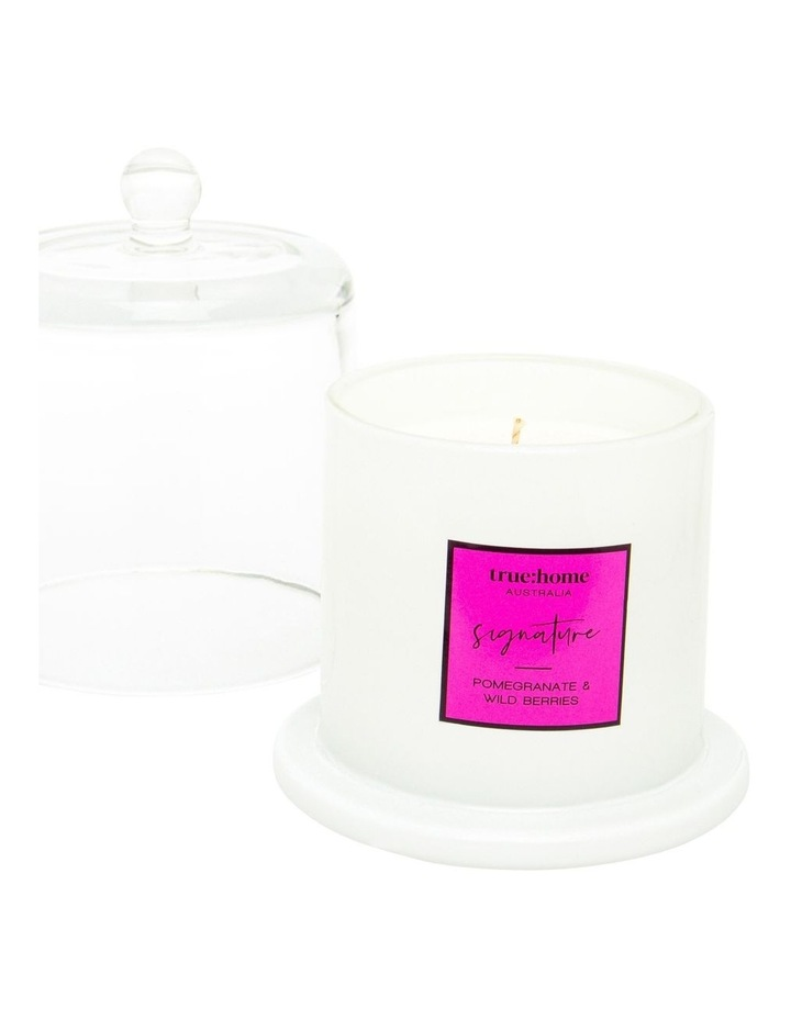 Signature Candle With Cloche Pomegranate & Wild Berries image 2