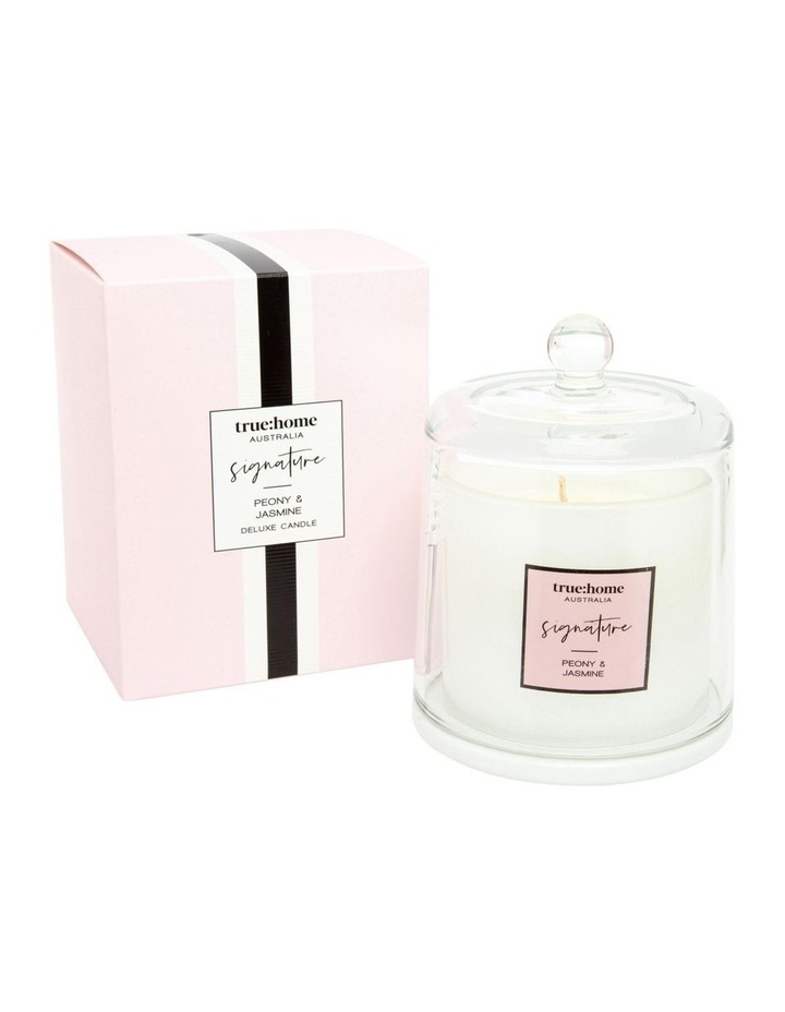 Signature Candle With Cloche Peony & Jasmine image 1