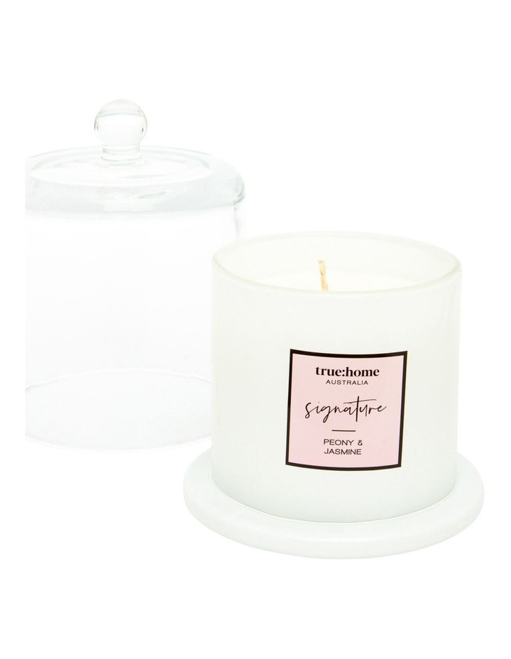 Signature Candle With Cloche Peony & Jasmine image 2
