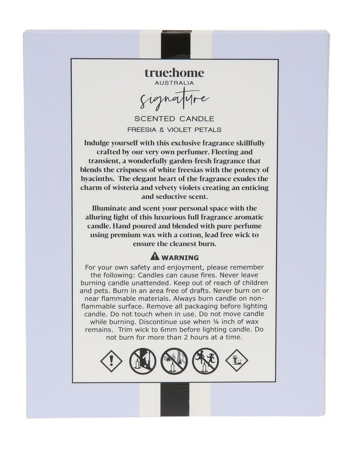 Signature Candle With Cloche Fresh Freesia & Violet image 2