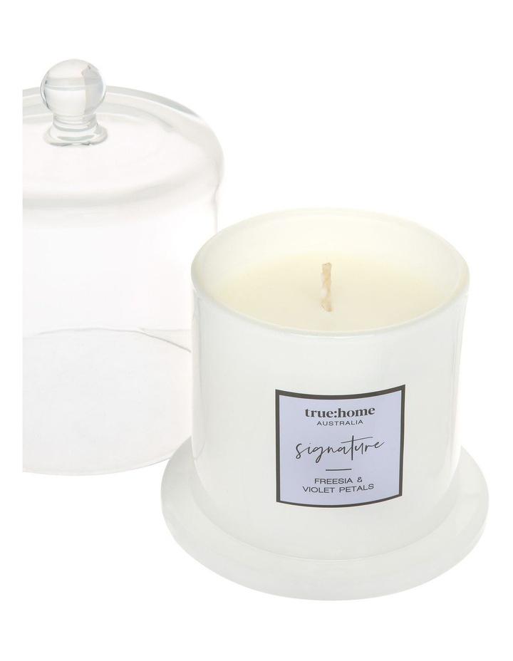 Signature Candle With Cloche Fresh Freesia & Violet image 3