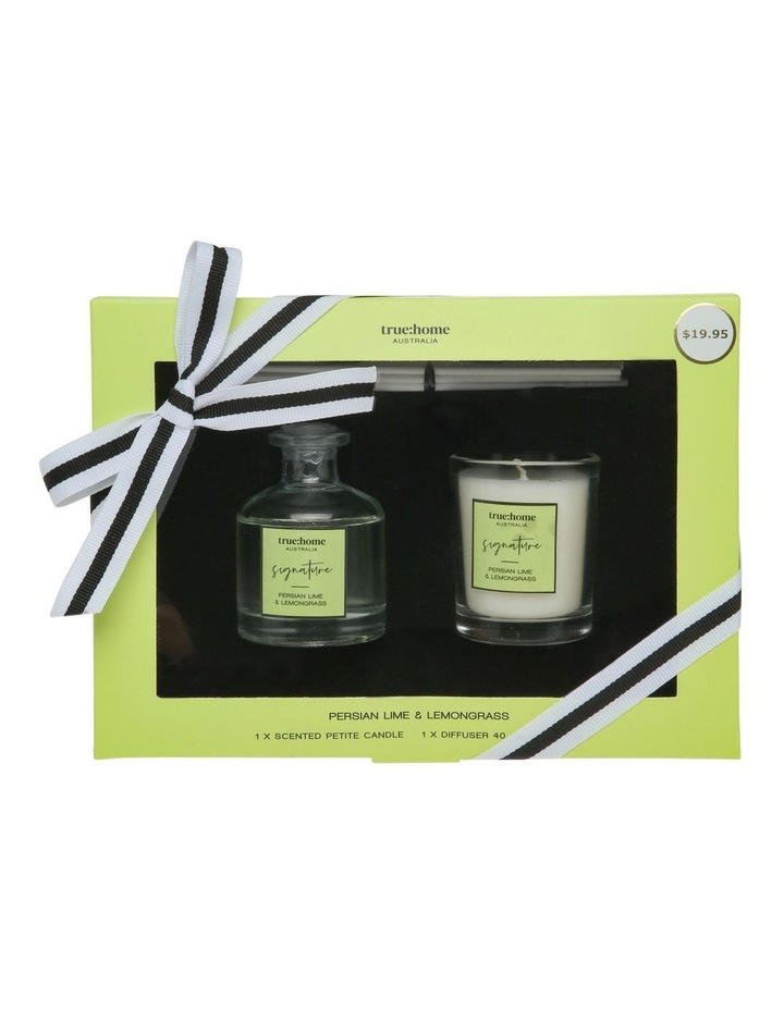 Signature Mini Candle and Diffuser Duo Persian Lime & Lemongrass image 1