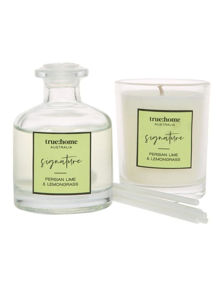 Signature Mini Candle and Diffuser Duo Persian Lime & Lemongrass image 2