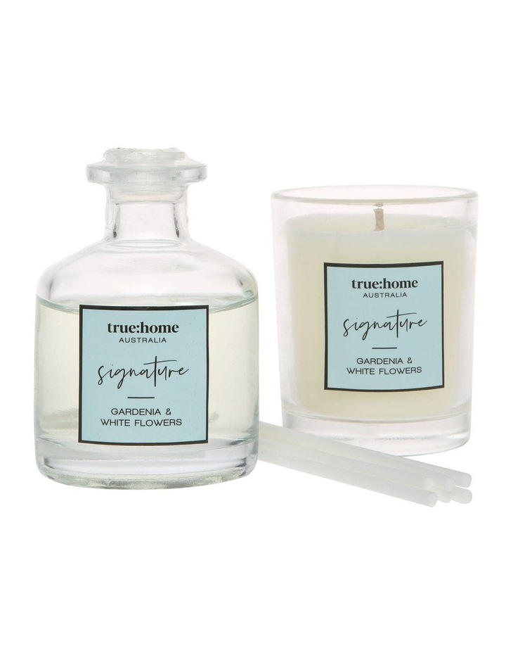 Signature Mini Candle and Diffuser Duo Gardenia & White Flowers image 2