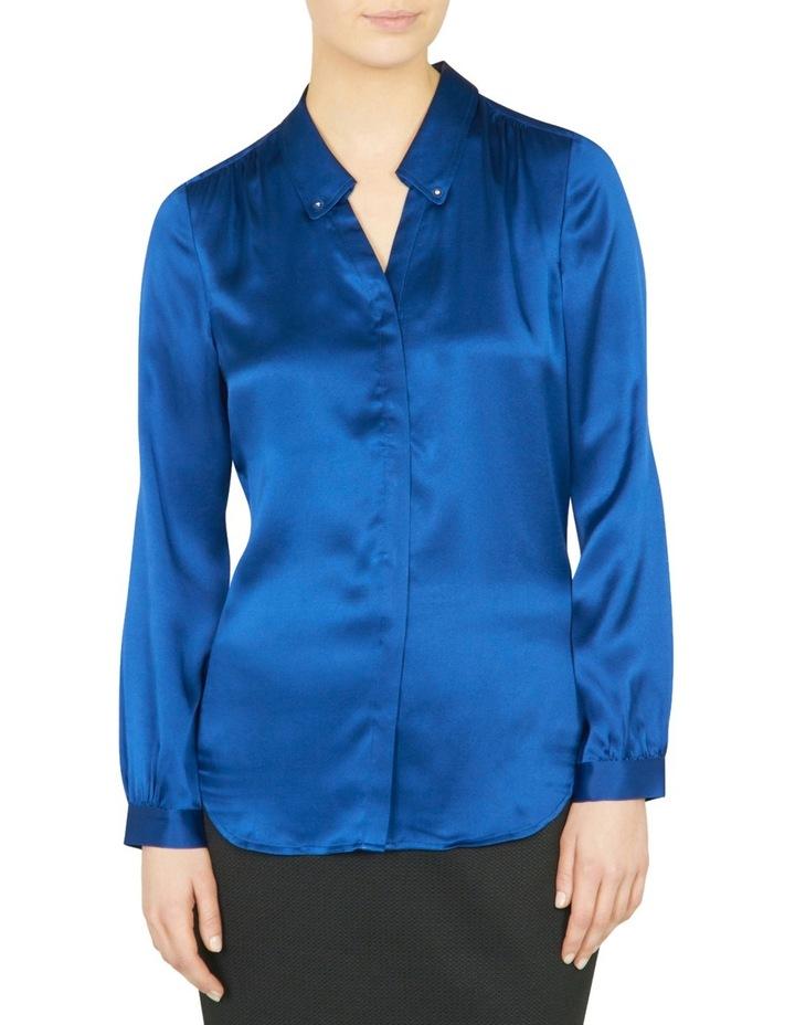 Remi Stud Collar Silk Shirt image 1
