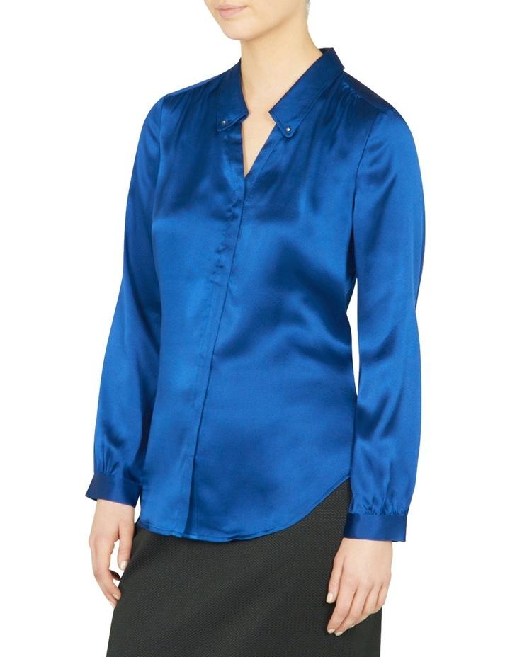 Remi Stud Collar Silk Shirt image 2