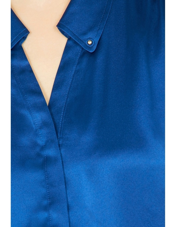 Remi Stud Collar Silk Shirt image 4