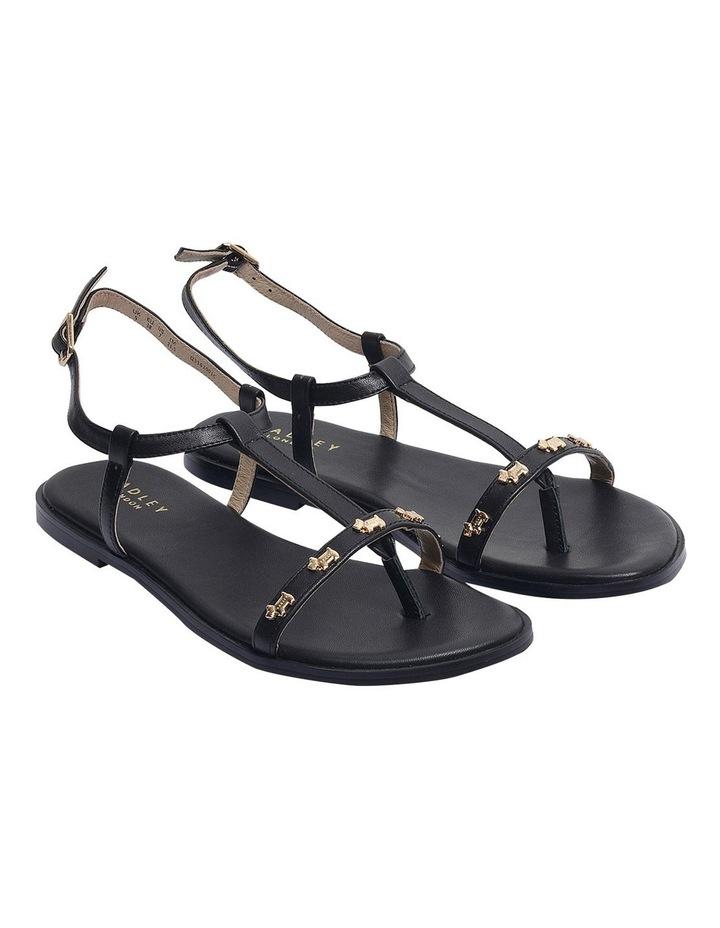 Dog Stud Black Flat Sandal image 2