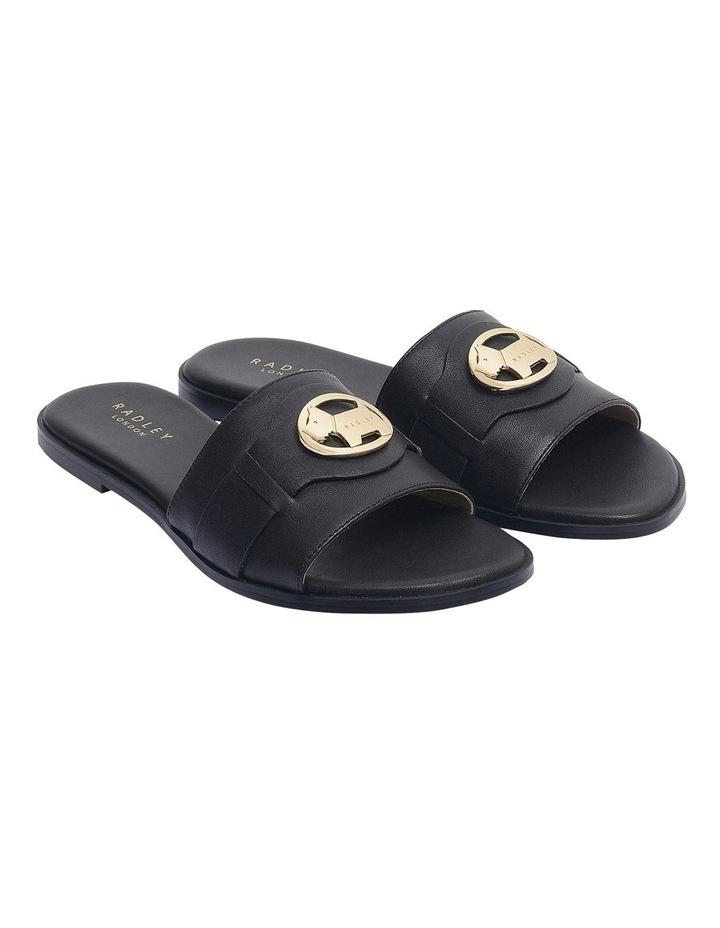 Iconic Black Flat Sandal image 2