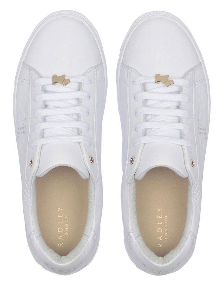 Floral Emboss White Sneaker image 3
