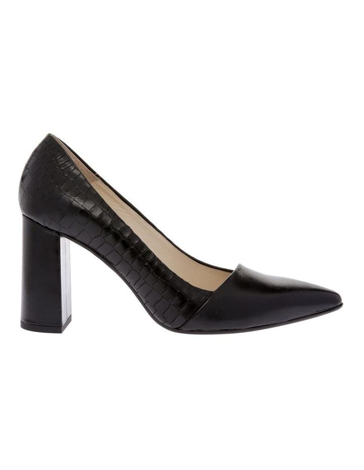 Aria Black Croc Heeled Shoe image 1