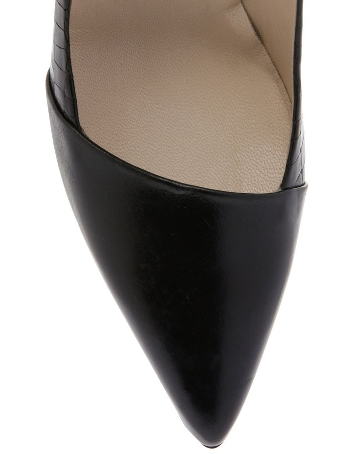 Aria Black Croc Heeled Shoe image 3