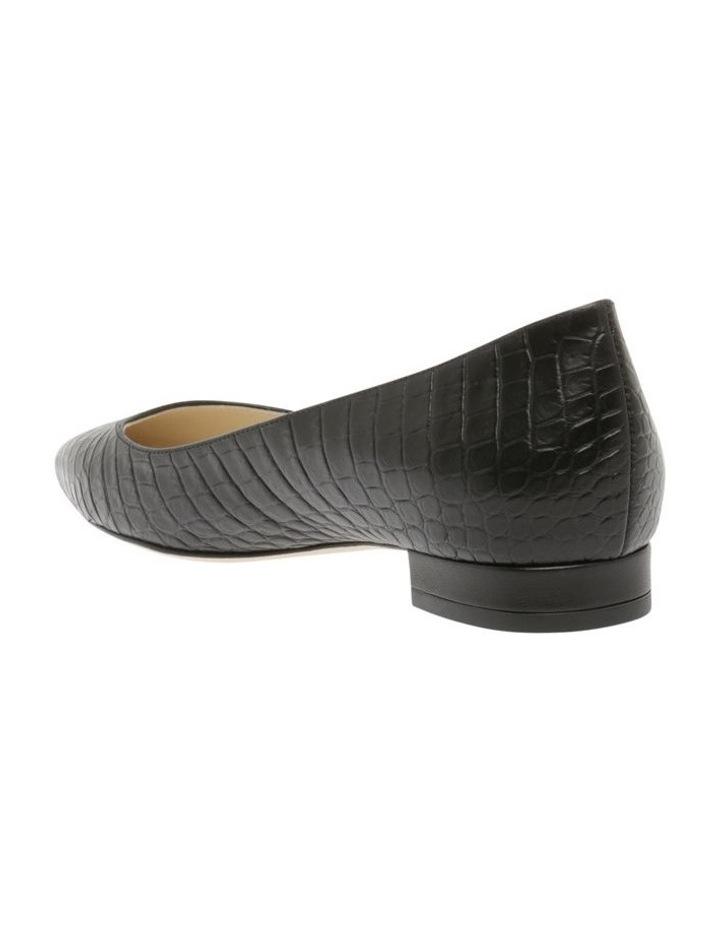 Barbara Black Croc Flat Shoe image 2