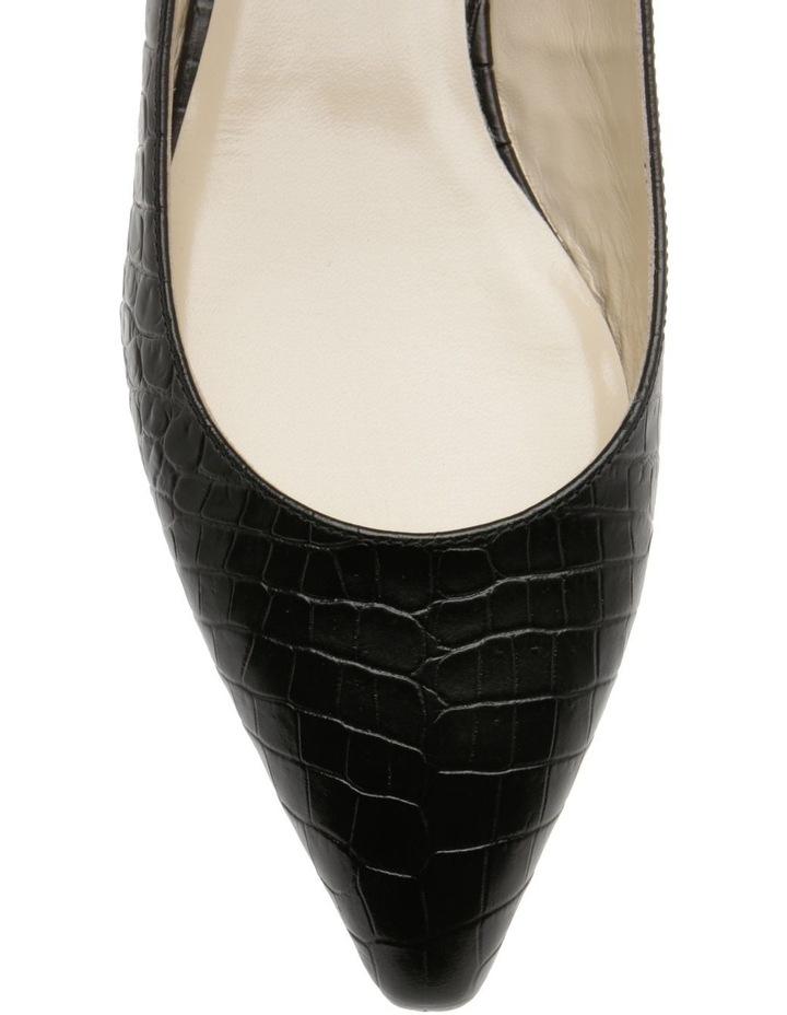 Barbara Black Croc Flat Shoe image 3