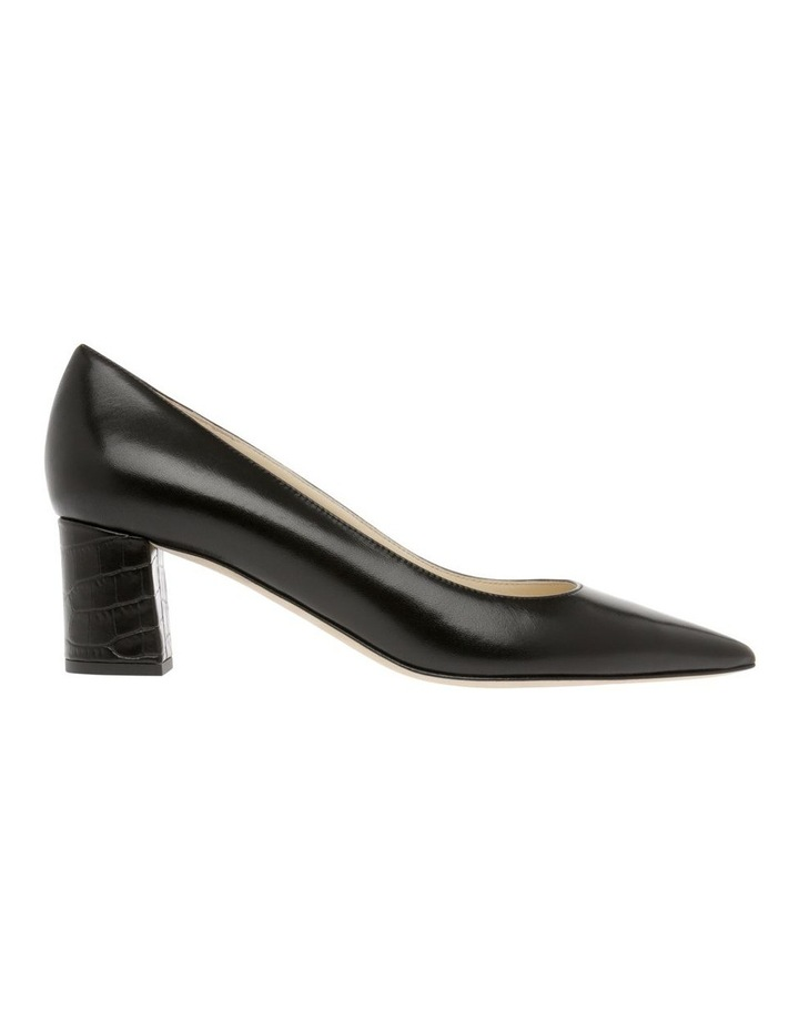 Bettina Black Croc Heeled Shoe image 1