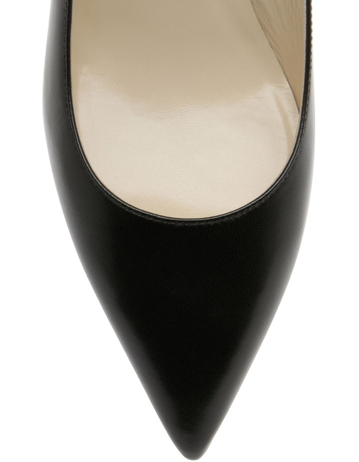 Bettina Black Croc Heeled Shoe image 3