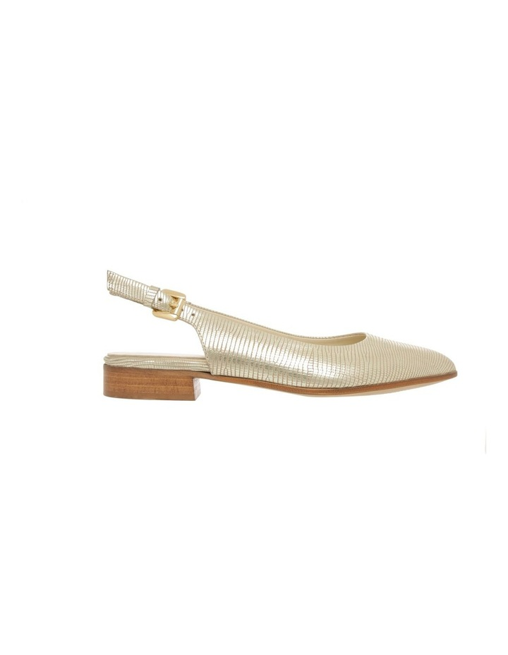 Cora Gold Flat Shoes image 1