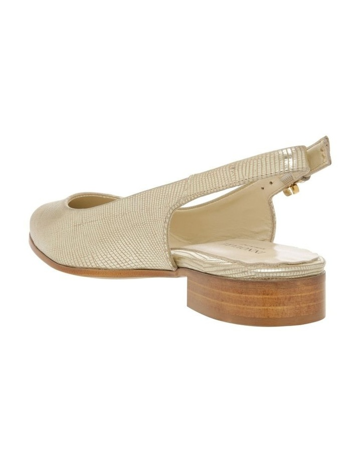 Cora Gold Flat Shoes image 3