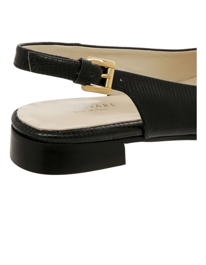Cora Black Flat Shoes image 4