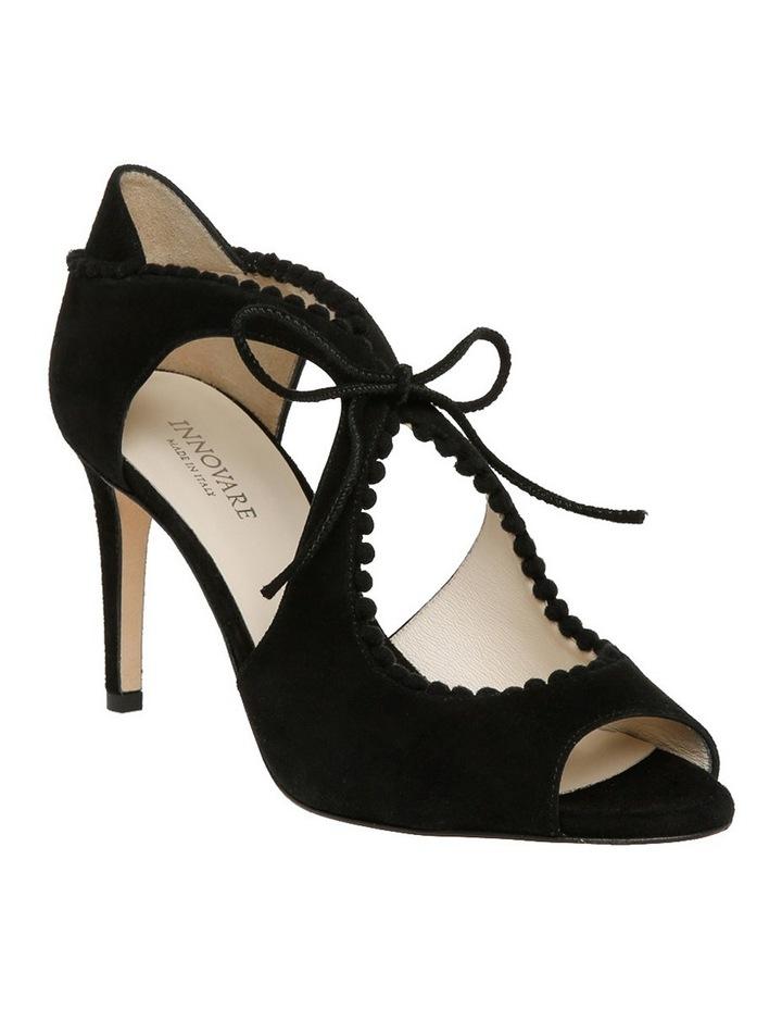 Portia Black Suede Sandal image 2