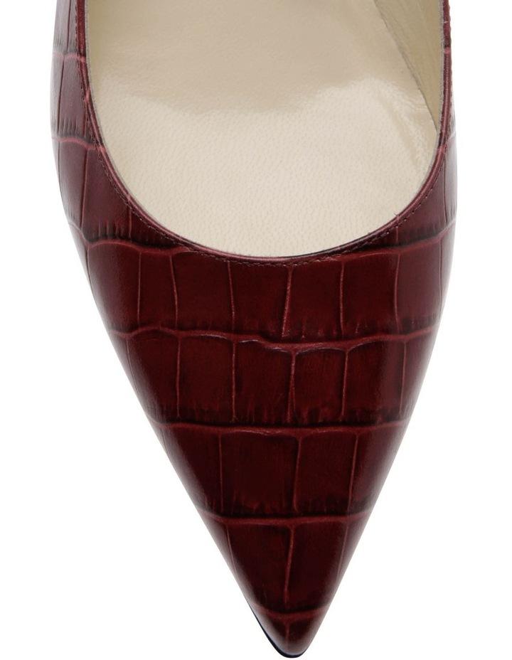 Lolitta Burgundy Croc Print Heeled Shoe image 3
