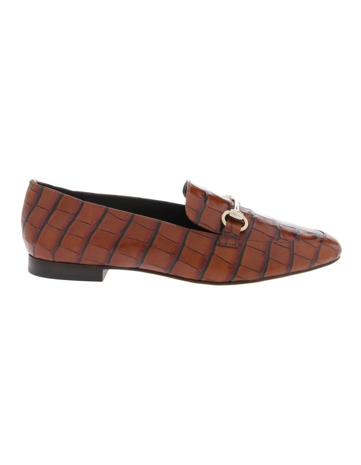 Tabitha Tan Croc Print Flat Shoe image 1