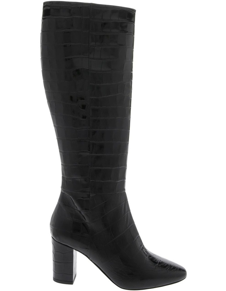 Malinda Black Croc Print Boot image 1