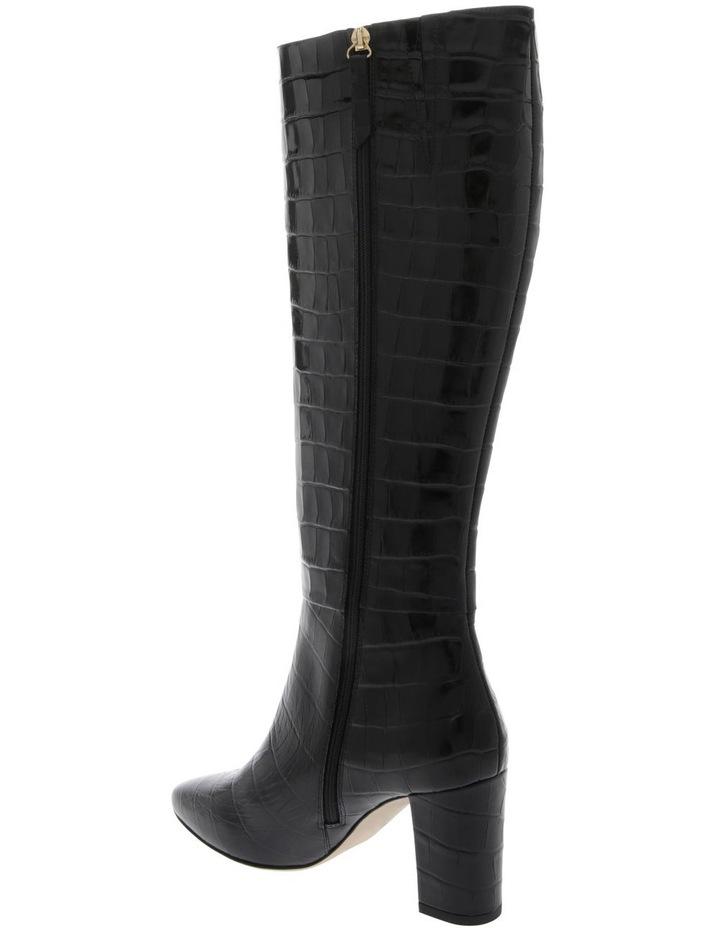 Malinda Black Croc Print Boot image 2