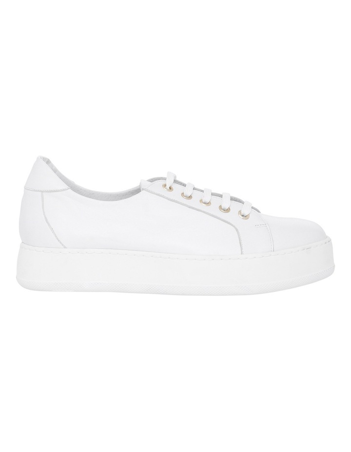 Amber White Leather Sneaker image 1