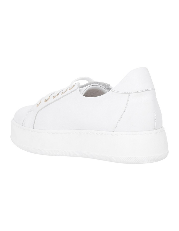 Amber White Leather Sneaker image 2