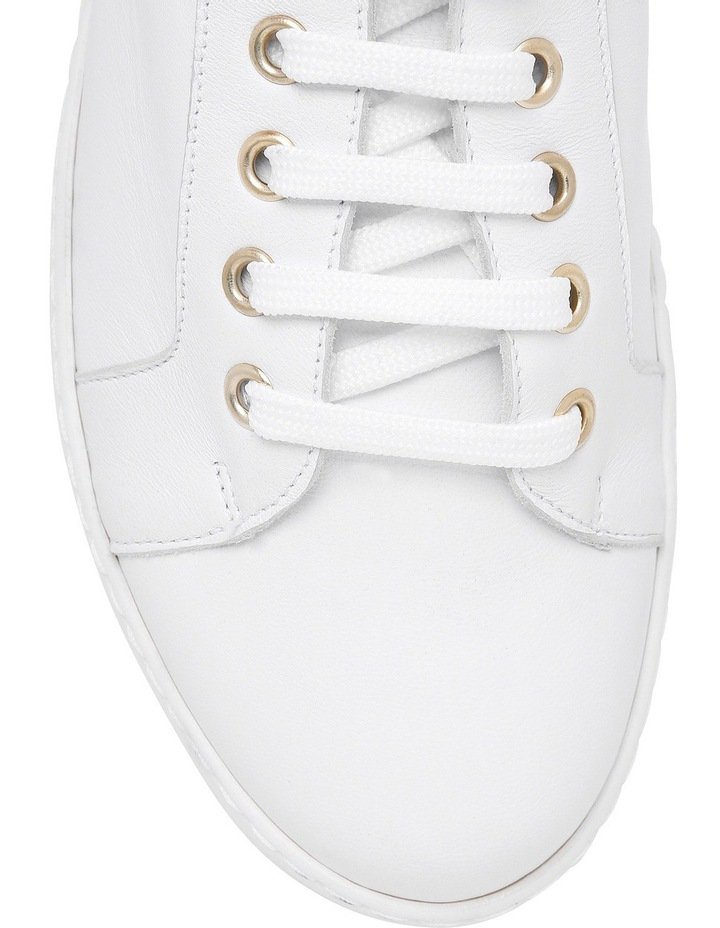 Amber White Leather Sneaker image 3