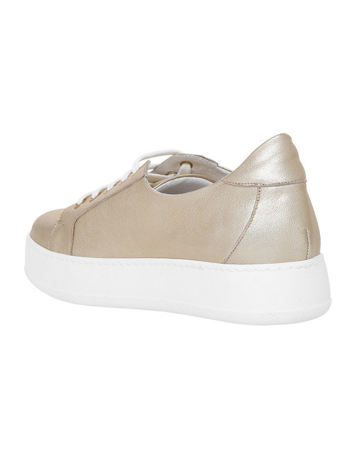 Amber Gold Leather Sneaker image 2