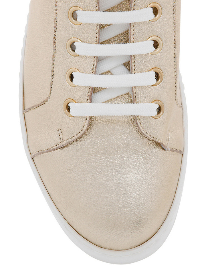 Amber Gold Leather Sneaker image 3