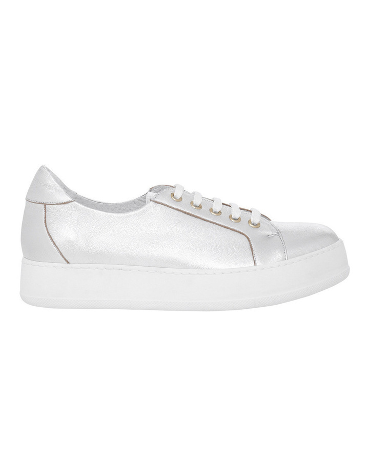 Amber Silver Leather Sneaker image 1