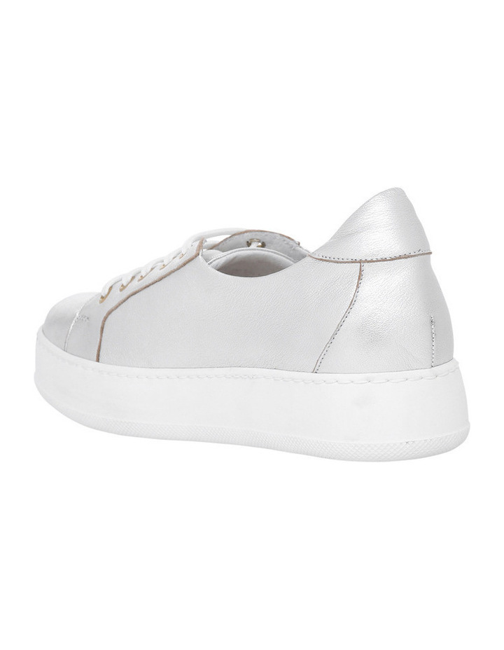 Amber Silver Leather Sneaker image 2