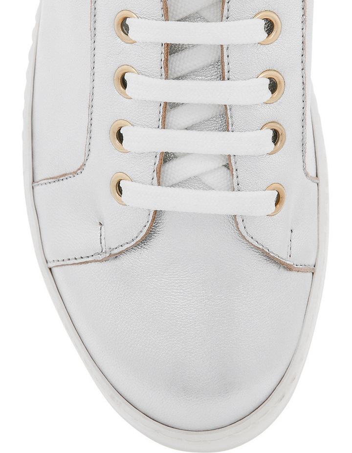 Amber Silver Leather Sneaker image 3