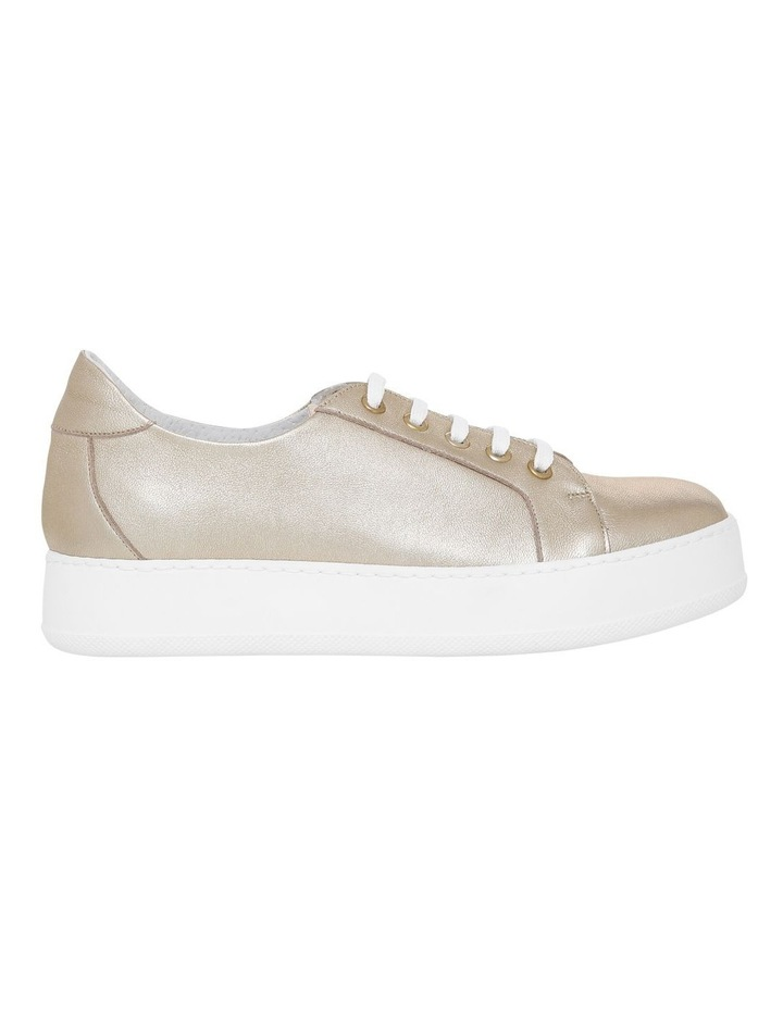 Amber Gold Leather Sneaker image 1