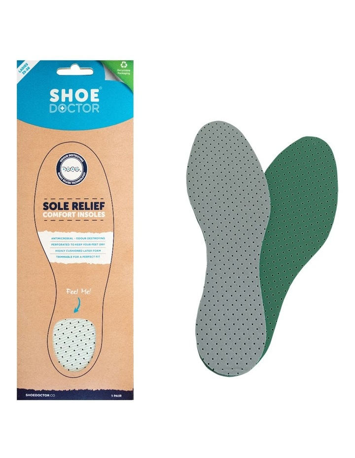 Shoe Doctor Sole Relief Foam Insoles Antimicrobial Size 35-36 (Pair) image 1