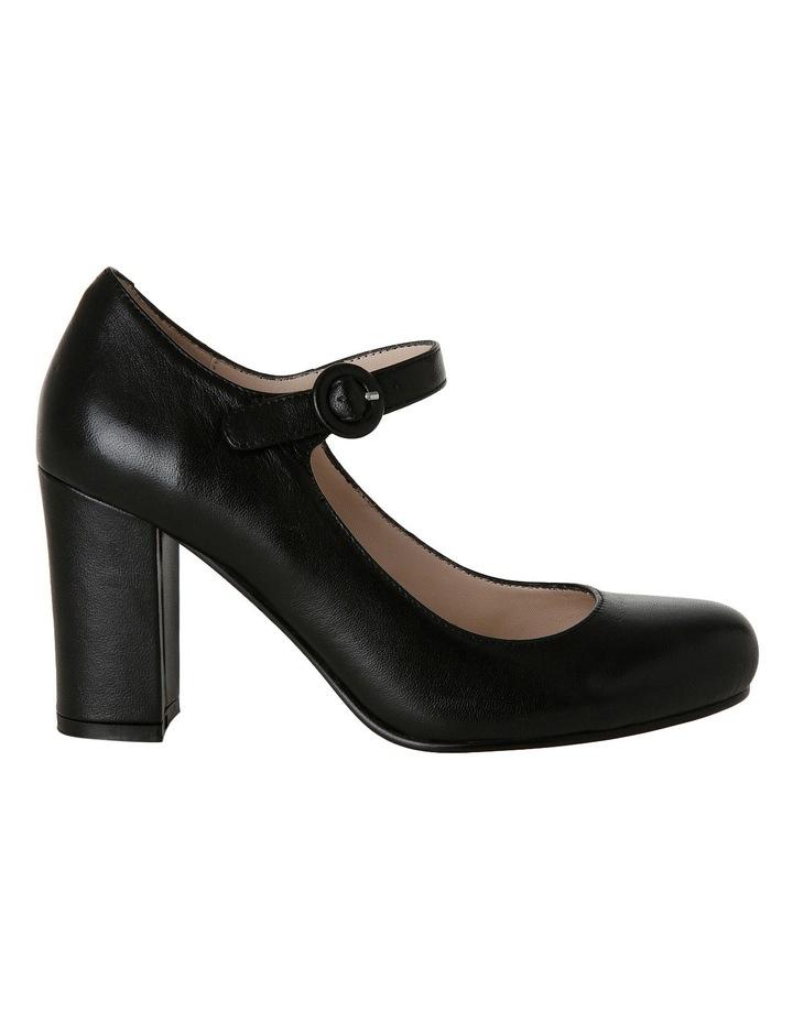 Rolo Black Leather Heel image 1