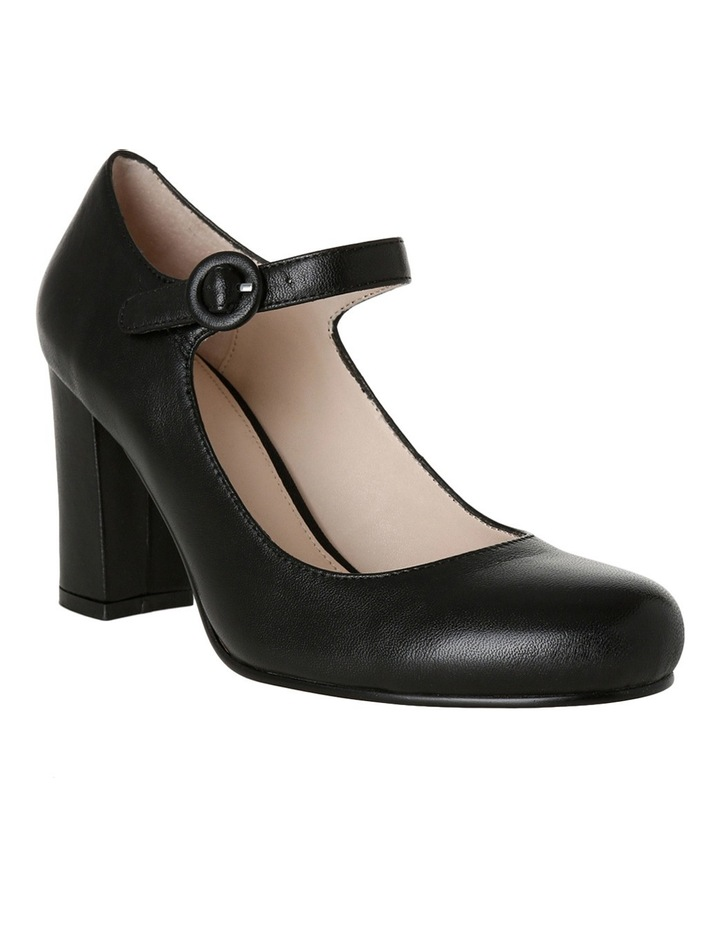 Rolo Black Leather Heel image 2