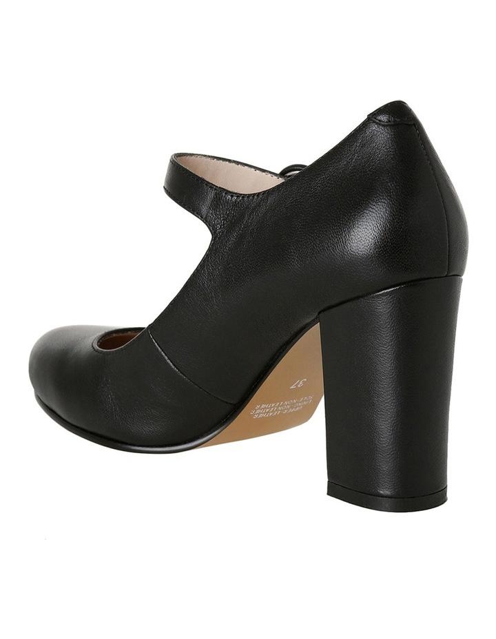 Rolo Black Leather Heel image 3