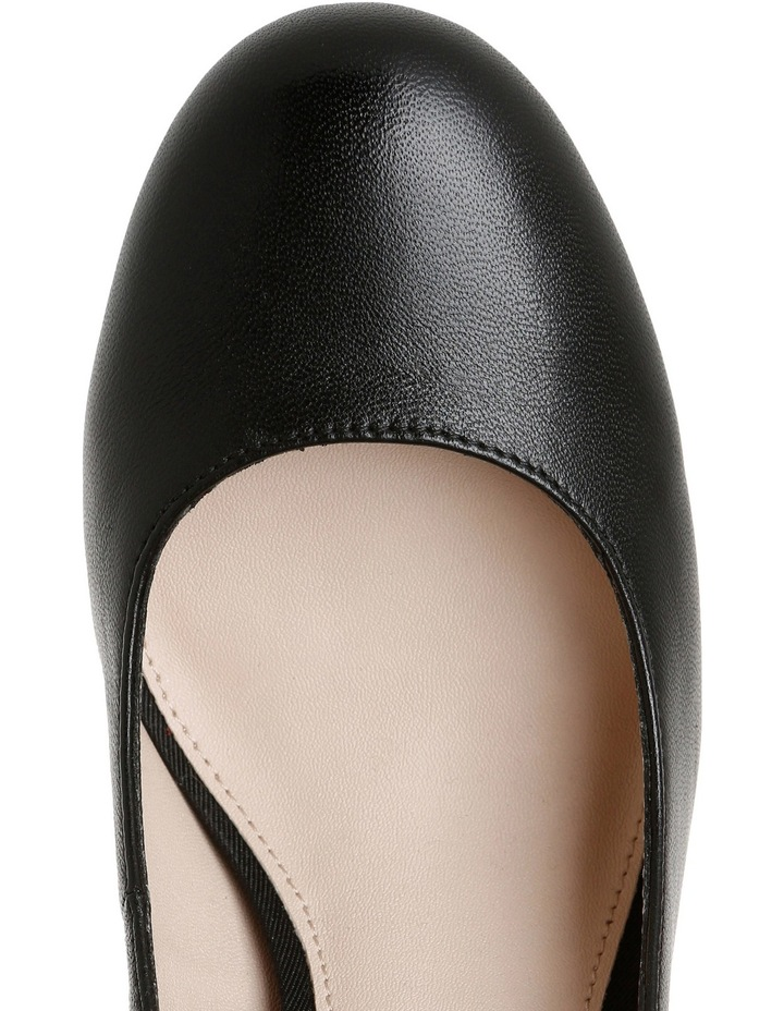 Rolo Black Leather Heel image 4