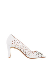 Leona by Leona Edmiston - Brando White Cow Patent Pump