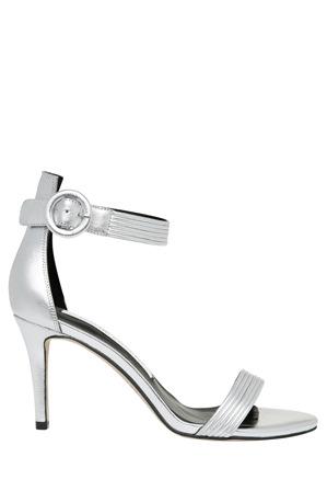 Wayne Cooper - Tessa Silver Leather Sandal
