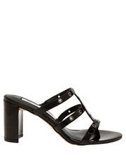 Sass Black Patent Sandal