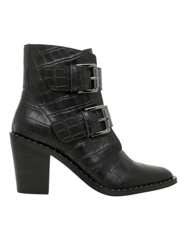 Jess Black Croc Emboss Leather Boot image 1